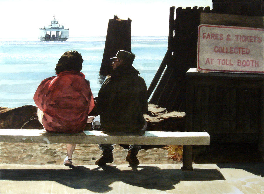 Couple Painting - The Walk-ons by Perry Woodfin