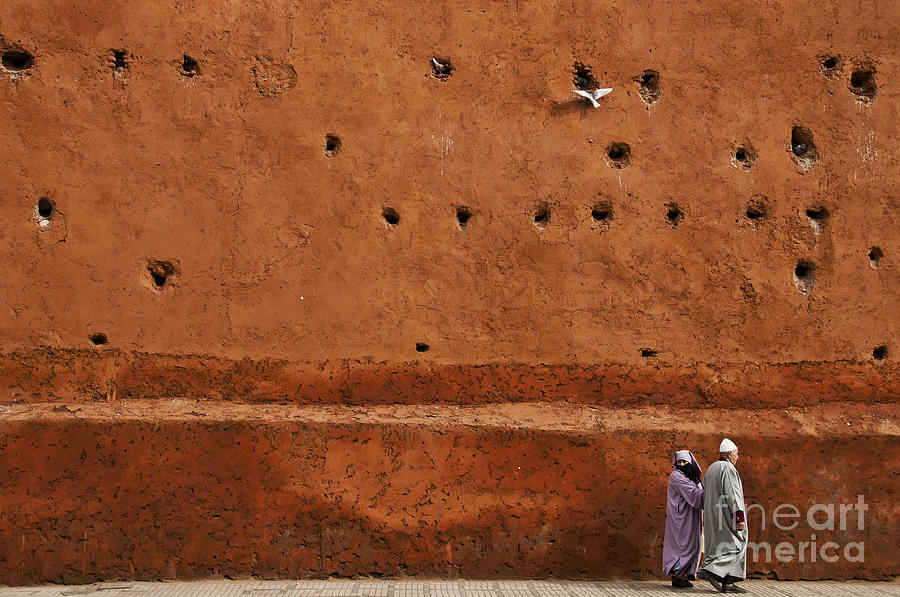 Marrakesh Photograph - The Wall by Marion Galt