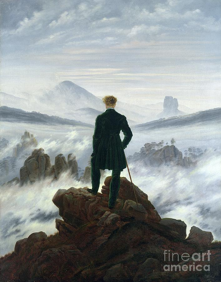 The Wanderer Above The Sea Of Fog Painting