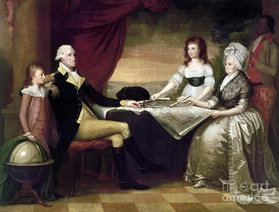 1796 Photograph - The Washington Family by Granger