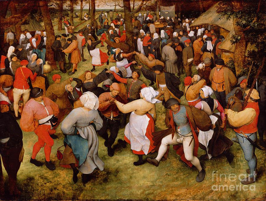 The Painting - The Wedding Dance by Pieter the Elder Bruegel