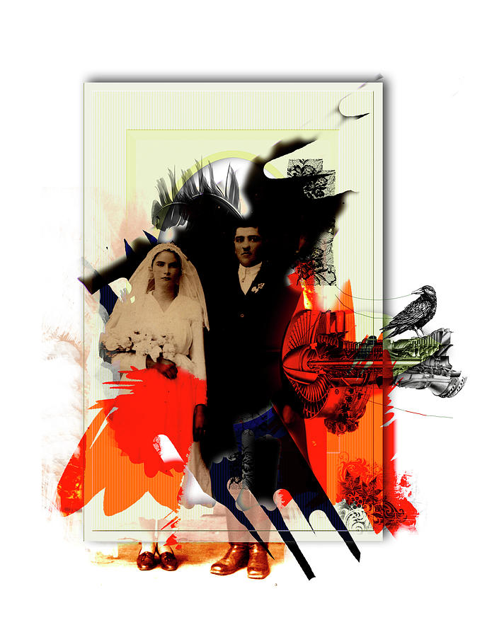 Digital Painting Digital Art - The Wedding Picture by Aniko Hencz
