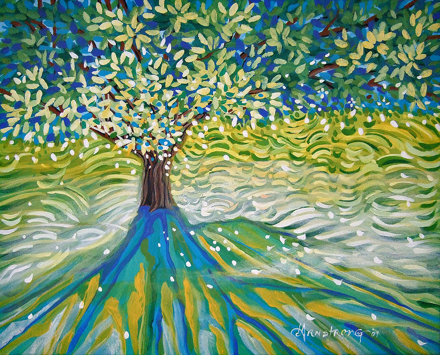 Tree Painting - The Wedding Tree by Denise Armstrong