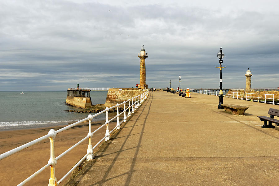 The West Pier And Breakwater - Whitby Photograph