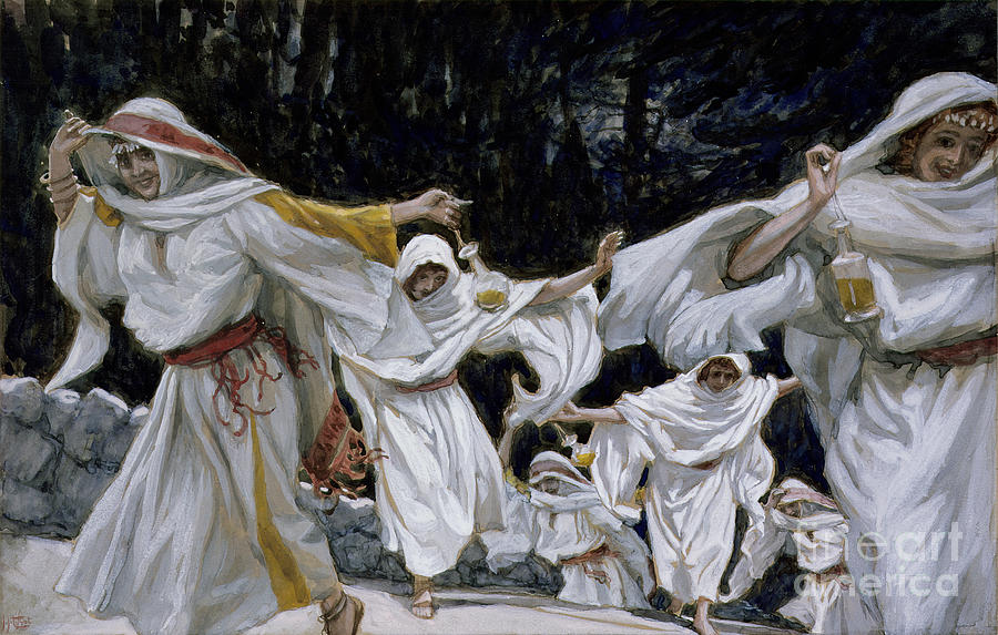 Happy Painting - The Wise Virgins by Tissot