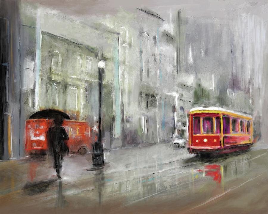The Woman In The Rain Digital Art