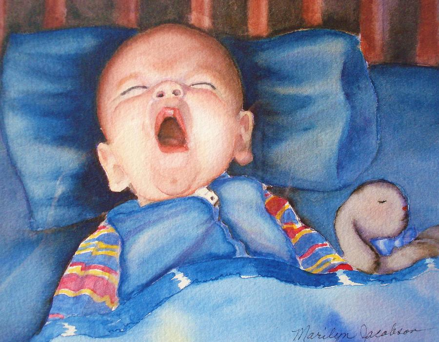 Baby Painting - The Yawn by Marilyn Jacobson