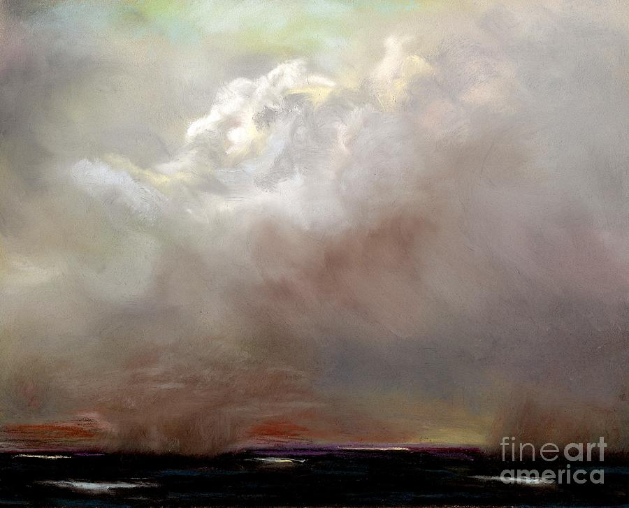 Cloud Painting Painting - Things Are About To Change by Frances Marino