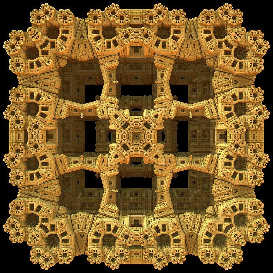 Mandelbulb Digital Art - Thinking Inside The Box by Lyle Hatch