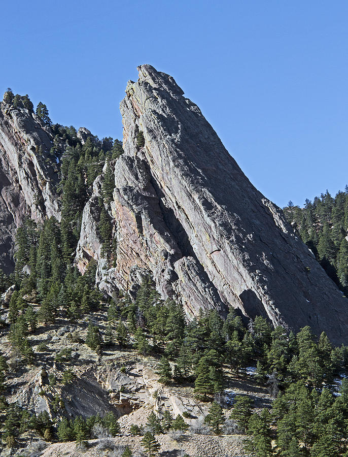 Front Photograph - Third Flatiron In Boulder Colorado by Brendan Reals