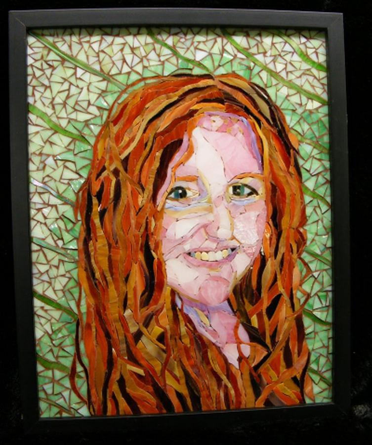 Portrait Glass Art - This Child Of Mine by Annie Thomas-Burke