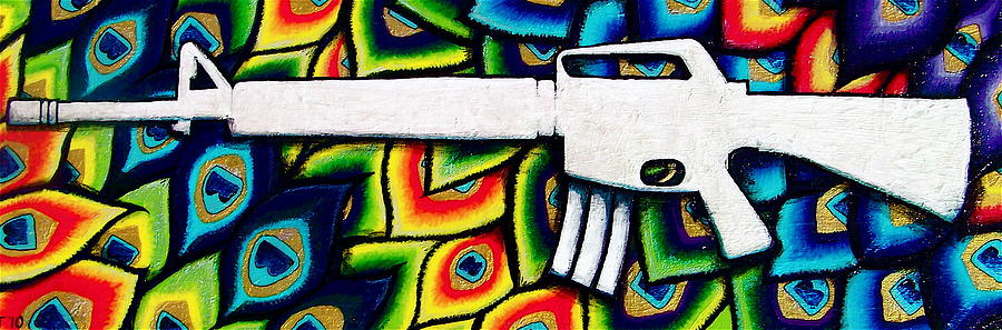 Rifle Painting - This Is My Rifle by Veronika Rose