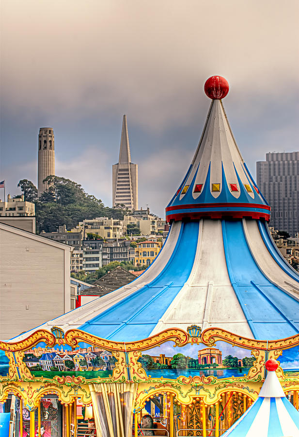 San Francisco Photograph - This Is San Francisco 1 Four Towers by Paul W Sharpe Aka Wizard of Wonders