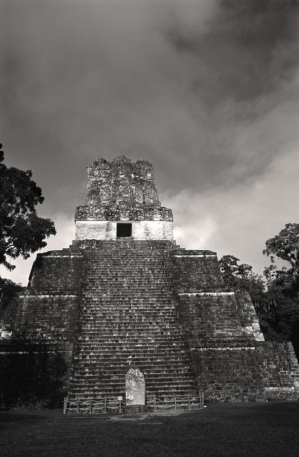 Maya Photograph - This Is Temple 2 At Tikal by Stephen Alvarez