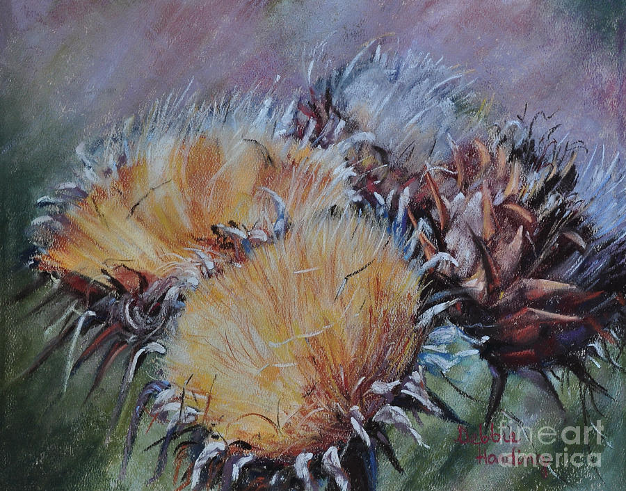Pastel Painting - Thistledown by Debbie Harding