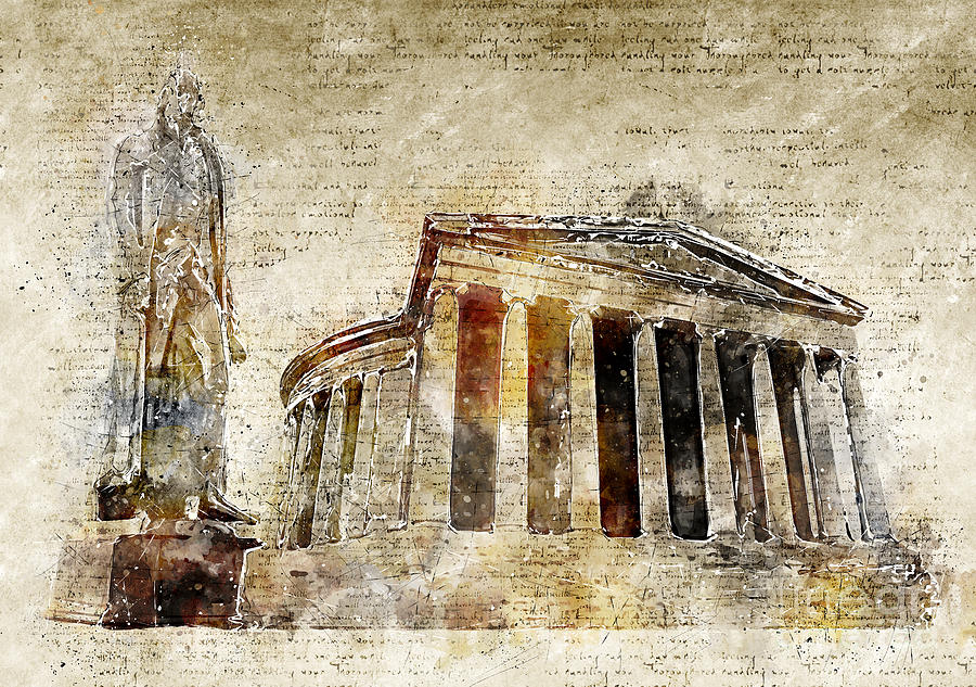 Thomas Jefferson Memorial Digital Art