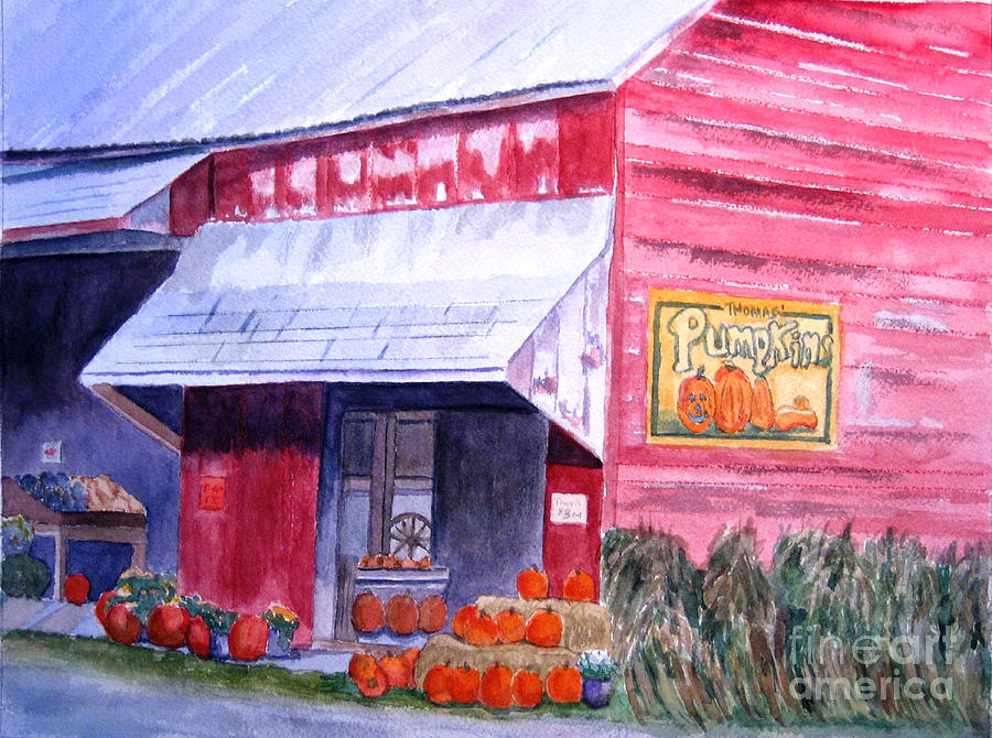 Watercolor Painting - Thomas Market by Lynne Reichhart