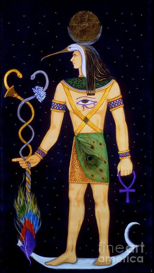 Thoth Painting - Thoth-djeheuty by DiVeena Seshetta