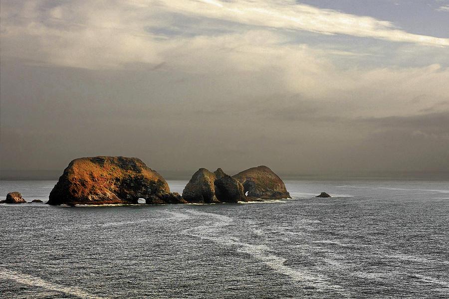Three Arch Rocks - Oceanside Near Cape Meares - Oregon Photograph