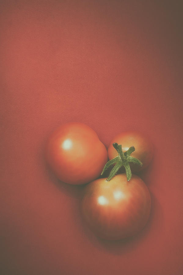 Three Cherry Tomatoes Photograph