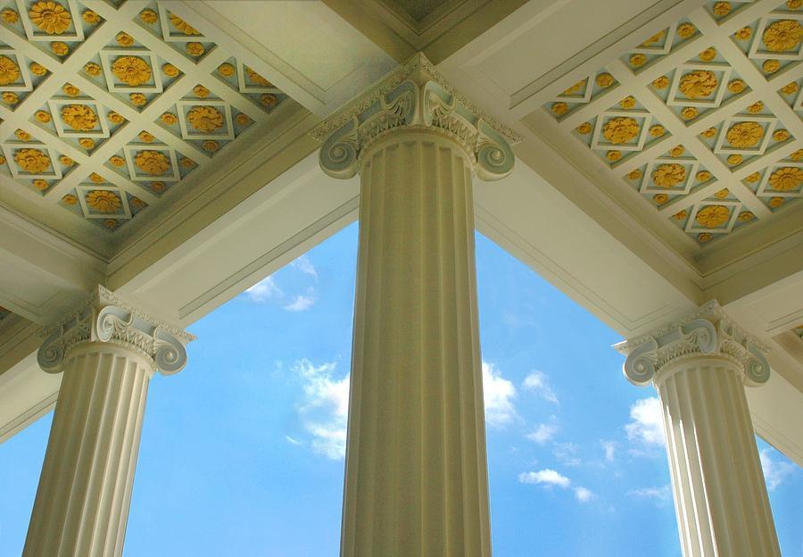 Archetecture Photograph - Three Columns by Dan Holm
