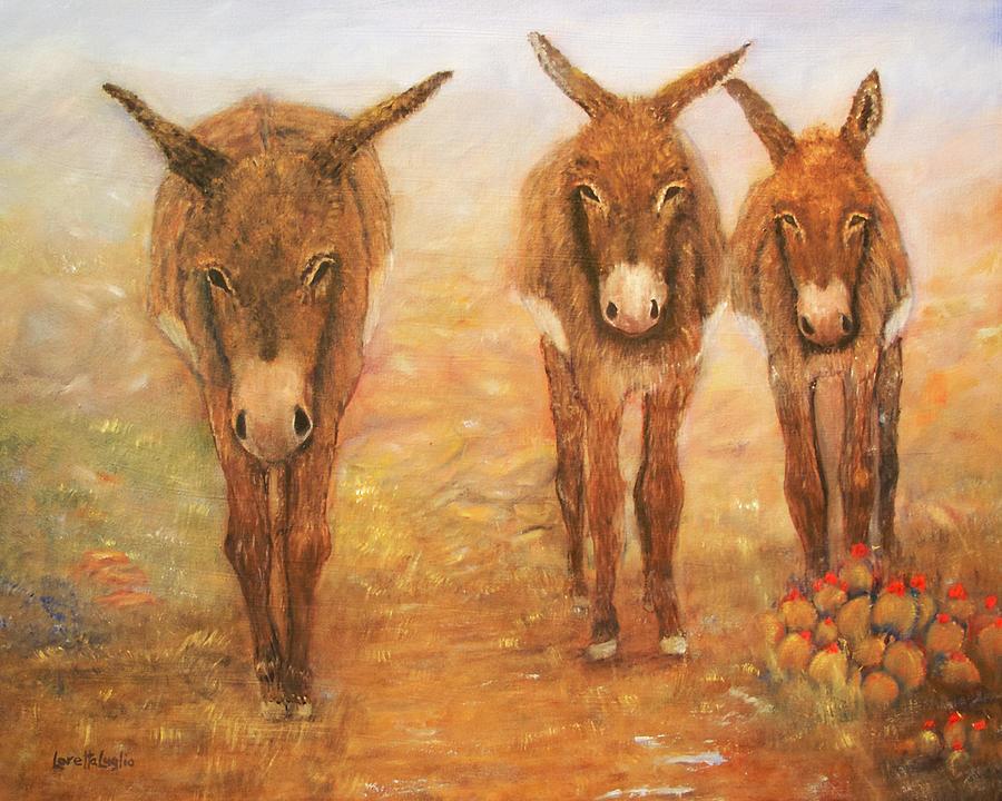 Acrylic Paintings Of Donkeys