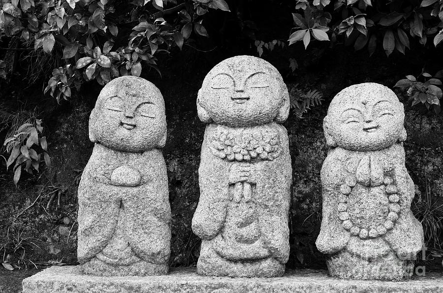 Buddha Photograph - Three Happy Buddhas by Dean Harte