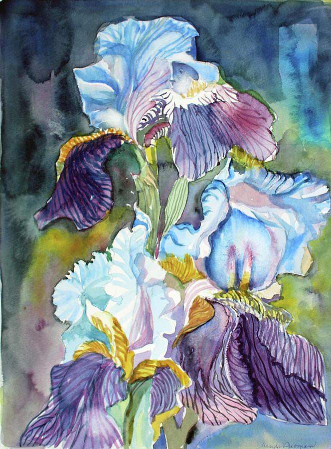 Three Irises Painting