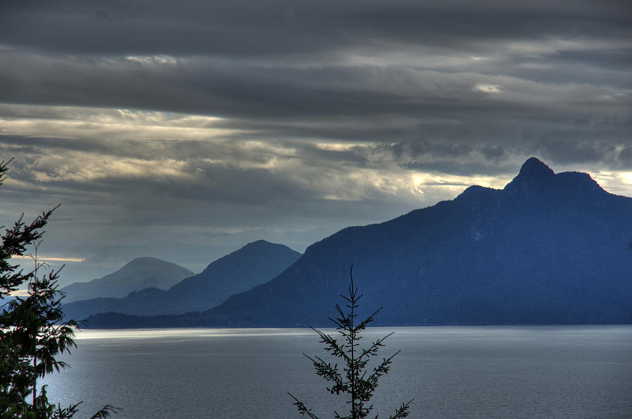 Mountain Photograph - Three Mountains. by Alexander Rozinov