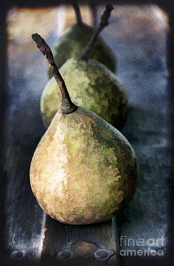 Agriculture Photograph - Three Pears by Darren Fisher