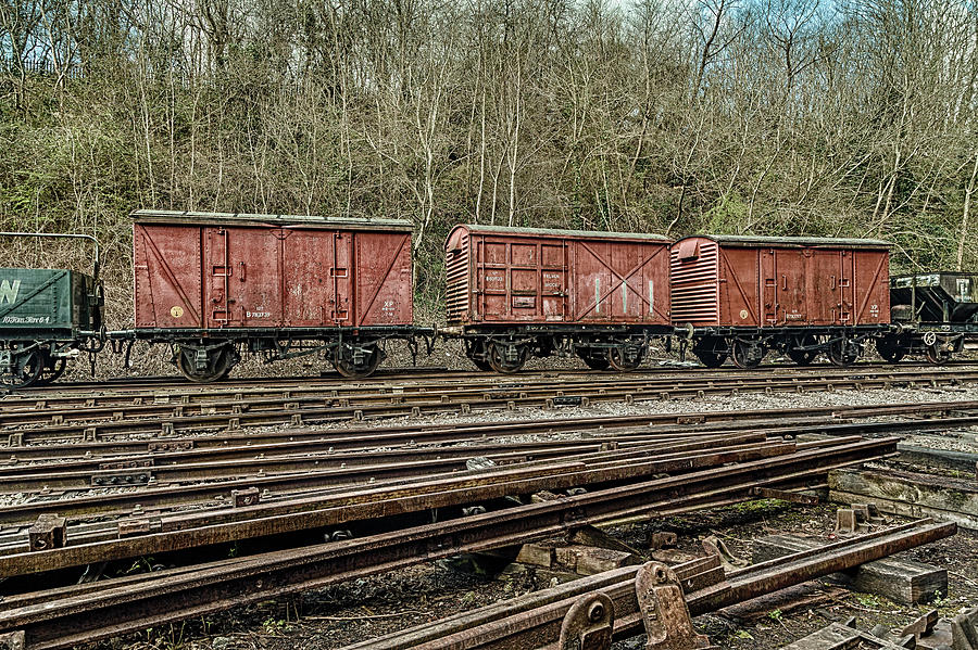 Three Red Wagons Photograph