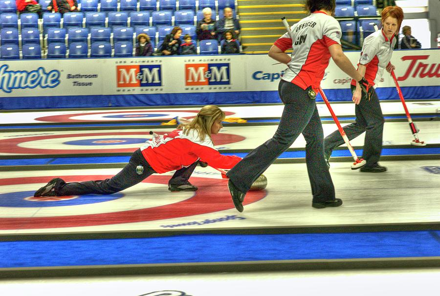Curling Photograph - Three Times World Champions by Lawrence Christopher