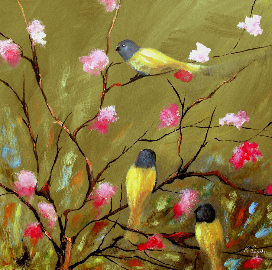 Painting Painting - Three Tweets by Ruth Palmer