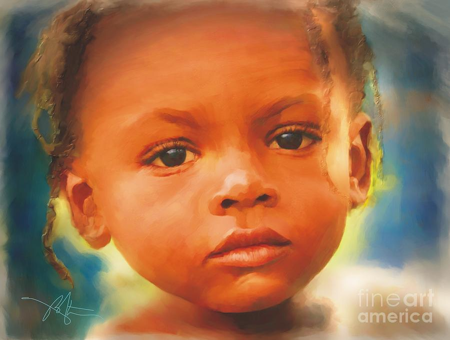 Haiti Painting - Through My Eyes by Bob Salo