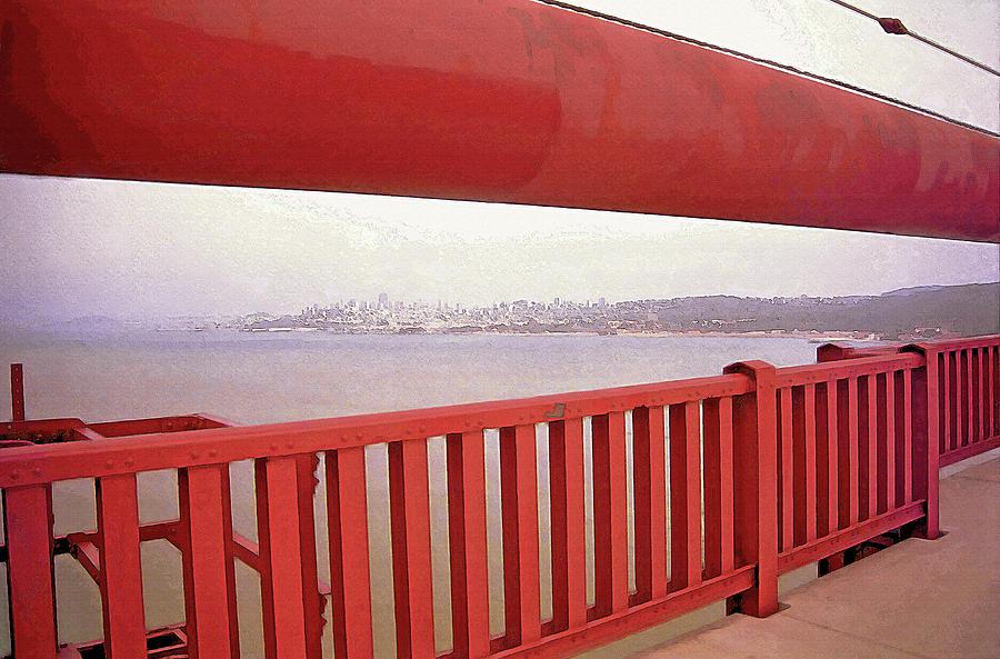 Through The Bridge View Of San Francisco Photograph