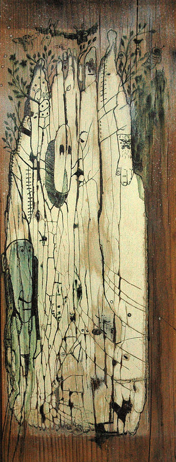 Character  Painting - Through The Cracks by Konrad Geel
