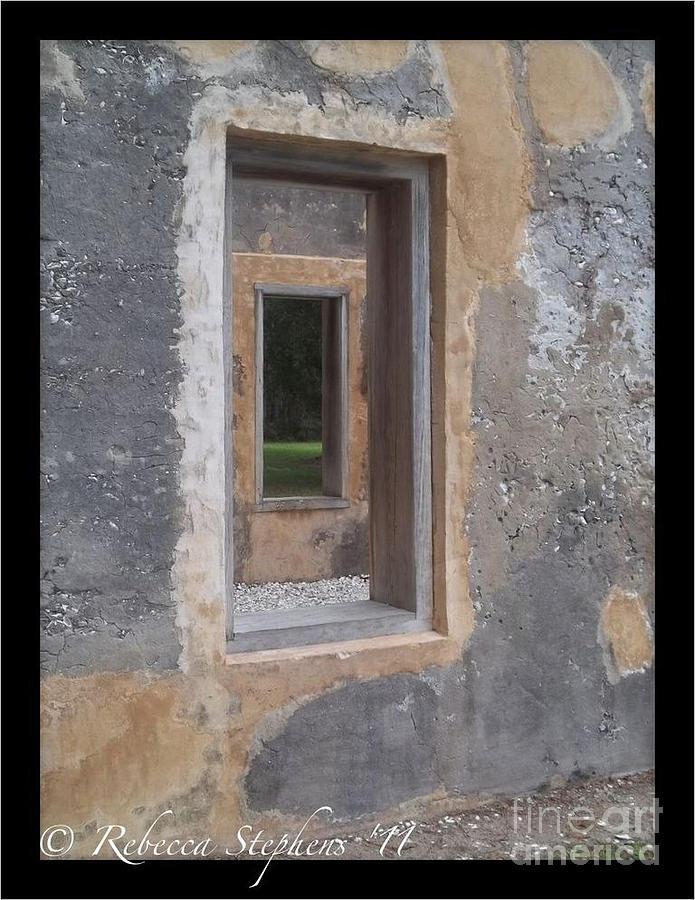 Horton House Photograph - Through The Horton Window by Rebecca Stephens