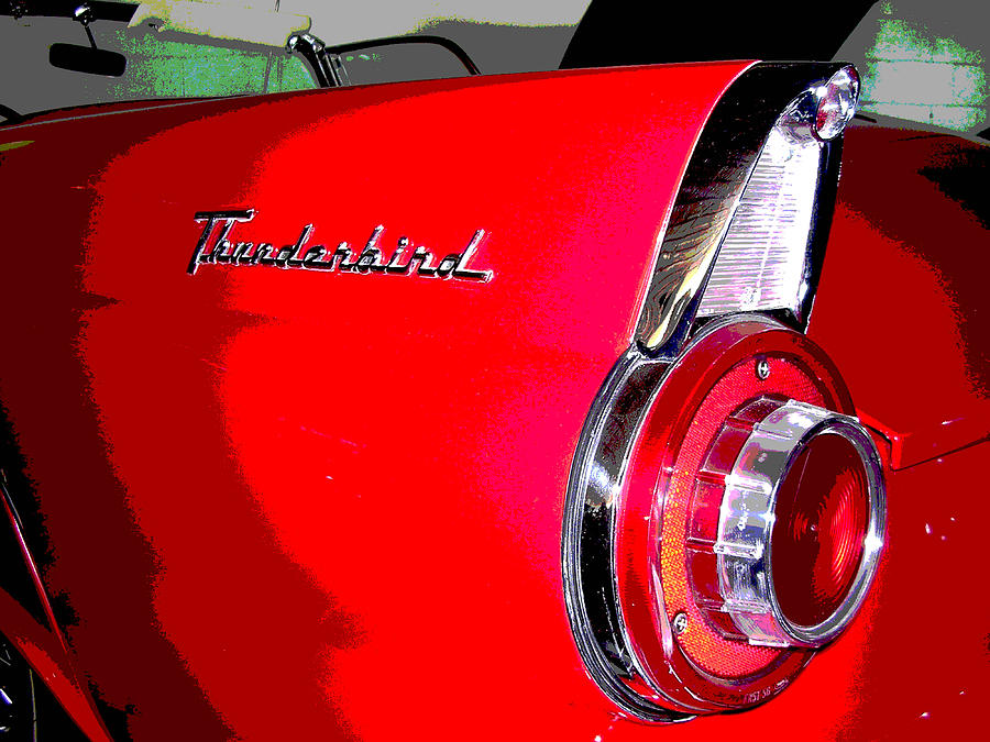 Car Artwork Photograph - Thunderbird by Audrey Venute