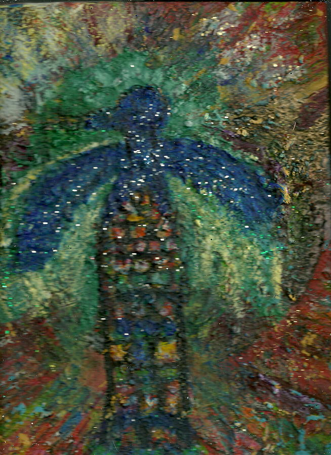Box Canvas Painting - Thunderbird Blue July 20 2011 by Anne-Elizabeth Whiteway