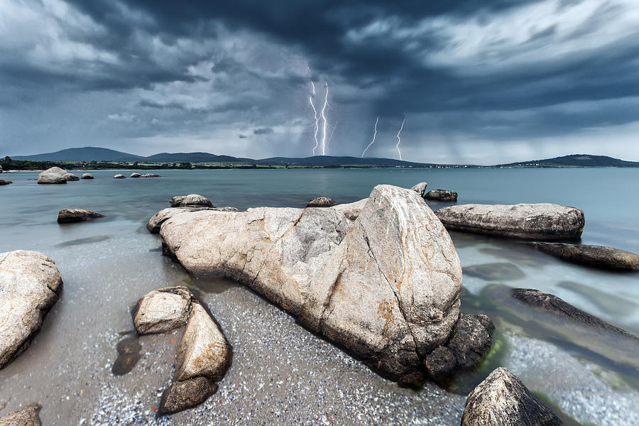 Akin Cape Photograph - Thunderstorm  by Evgeni Dinev