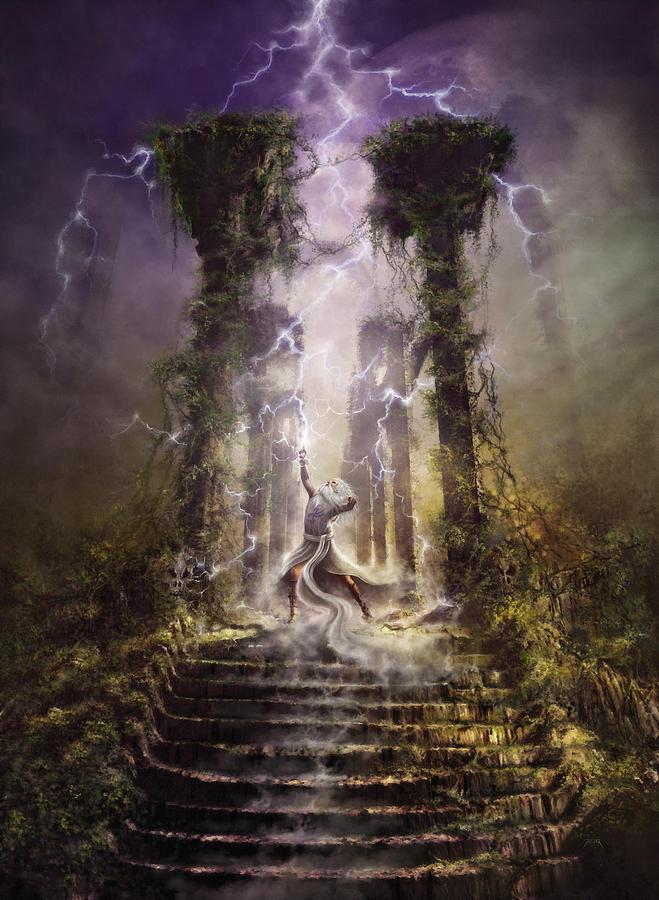 Thunderstorm Wizard Digital Art