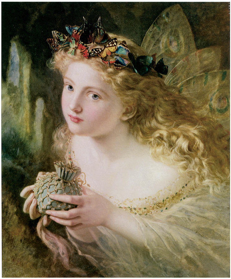 Sophie Anderson Painting - Thus Your Fairys Made Of Most Beautiful Things by Sophie Anderson