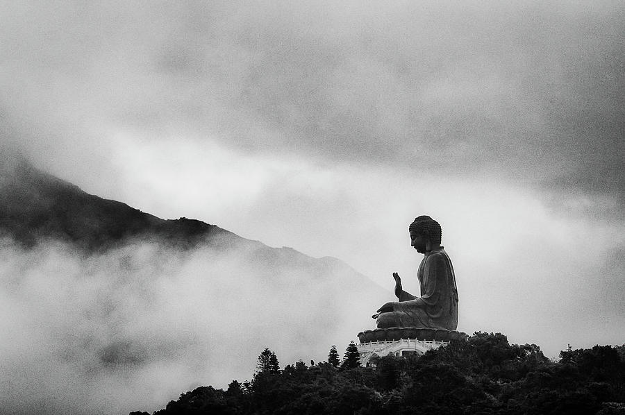 Horizontal Photograph - Tian Tan Buddha by picture by Chris Kench Photography
