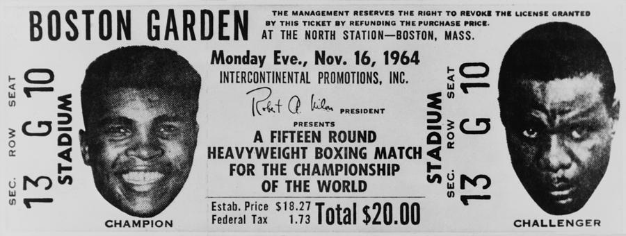 History Photograph - Ticket To World Championship Boxing by Everett