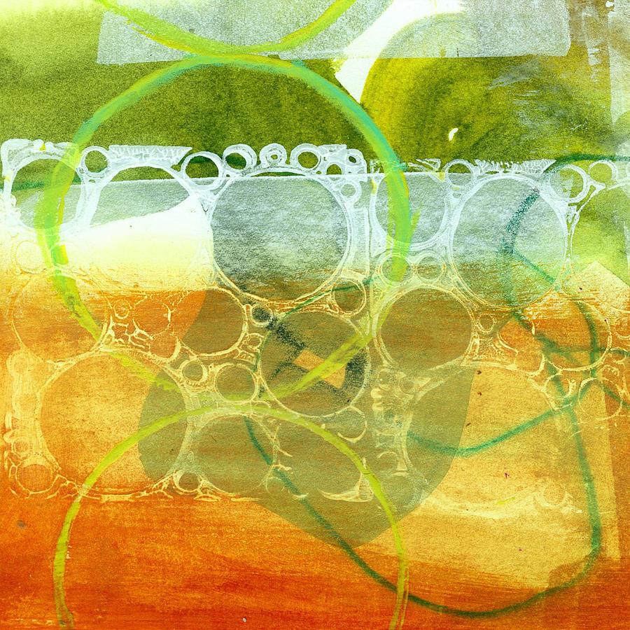 4x4 Painting - Tidal 13 by Jane Davies