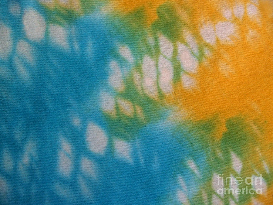 Tie-dye Photograph - Tie Dye In Yellow Aqua And Green by Anna Lisa Yoder