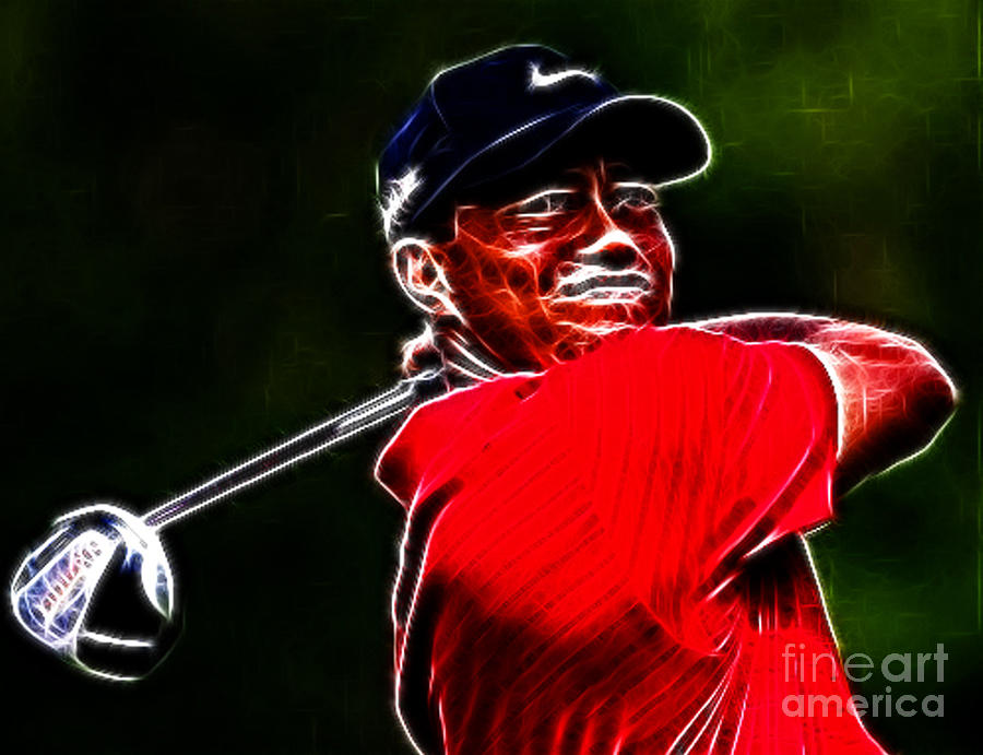 Eldrick Tont tiger Woods Photograph - Tiger Woods by Paul Ward
