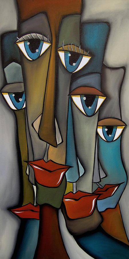 Pop Art Painting - Tight Knit By Fidostudio by Tom Fedro - Fidostudio