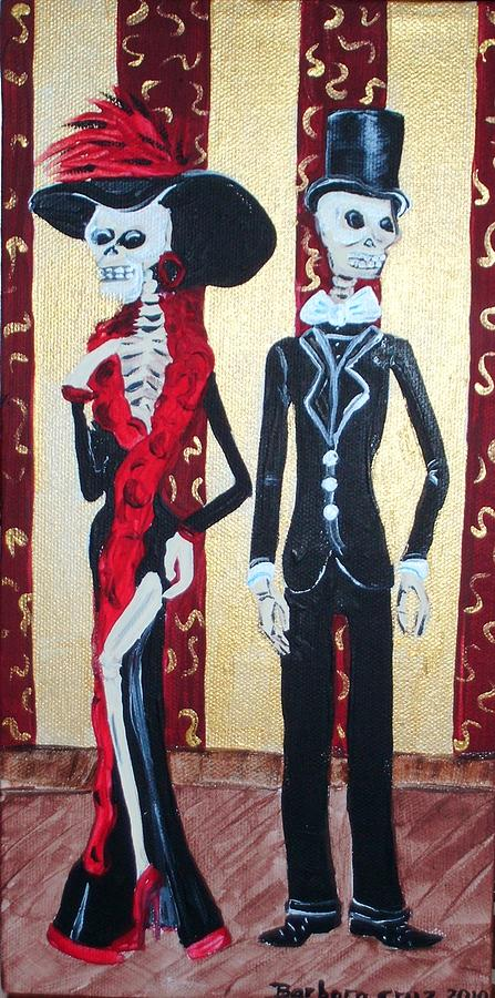 Skeltons Painting - Till Death Do Us Part by Barbara Cruz