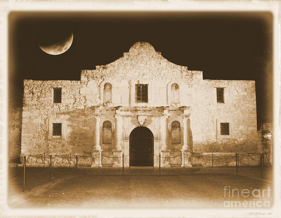 The Alamo Photograph - Timeless Alamo by Carol Groenen